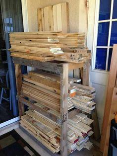 Pallet wood racking