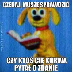 Funny Images, Funny Photos, Haha Funny, Funny Jokes, Polish Memes, Weekend Humor, Best Memes Ever, Cute Memes, Me Too Meme