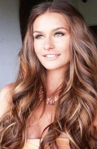Brunette With Highlight Hairstyles- wish I had this much hair! Love the color though
