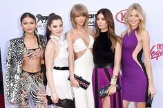 """Zendaya, Hailee Steinfeld, Taylor Swift, Lily Aldridge and Martha Hunt attend the 2015 Billboard Music Awards at MGM Grand Garden Arena on May 17, 2015 in Las Vegas, Nevada. <br><Br >MORE: <A href=""""http://www.billboard.com/billboard-music-awards""""><strong>2015 BILLBOARD MUSIC AWARDS</strong></a>"""