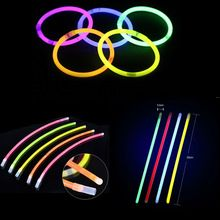 50Pcs/lot Glow Stick Glow Party Supplies Fluorescent Mixed Color Bracelets Necklace Birthday Festive Party Vocal Light Sticks(China)