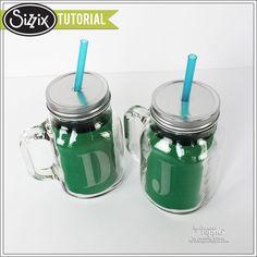 Sizzix Tutorial | Etched Monogram Mugs by Jennifer Priest