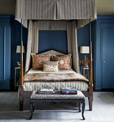 Dark Blue - It's The Etro Fabric on Pillows That Makes This Exotic