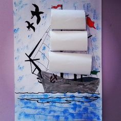 Crafts,Actvities and Worksheets for Preschool,Toddler and Kindergarten.Lots of worksheets and coloring pages. Pirate Ship Craft, Pirate Crafts, Pirate Art, Projects For Kids, Art Projects, Crafts For Kids, Arts And Crafts, Summer Crafts, Summer Art