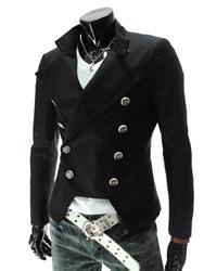 #NewYear #EricDress - #EricDress Ericdress Double-Breasted Slim Mens Coat - AdoreWe.com