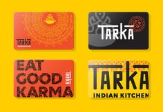 Logo and Identity for Tarka Indian Kitchen by Wall-to-Wall Studios Restaurant Identity, Restaurant Menu Design, Restaurant Concept, Restaurant Themes, Food Logo Design, Logo Food, Brand Identity Design, Food Branding, Food Packaging Design