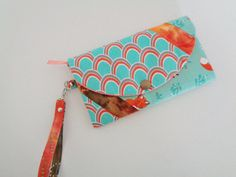 Fox wallet wristlet and billfold for girl by CountingTreasures