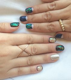 If you can't decide on a single style, combine them all into one dazzling mani.