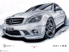 www.facebook.com/adonis.designer    http://youtu.be/fETCSjUvU0c    Traditional drawing of a Mercedes C63 Amg, made with Copic markers in A3 paper. 12 hours of work. Hope you like it!