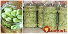 To je nápad! Home Canning, Preserves, Pickles, Ham, Cucumber, Pesto, Mason Jars, Food And Drink, Yummy Food