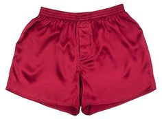 From 16.90 Sexy Red 100% Charmeuse Silk Mens Boxer Shorts Underwear New (medium)