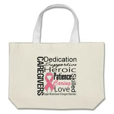 Breast Cancer Caregivers Collage Bag by giftsforawareness.com #breastcancerawareness #breastcancerawarenessbags