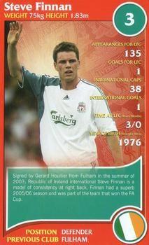 2007 Top Trumps Specials Liverpool #NNO Steve Finnan Front