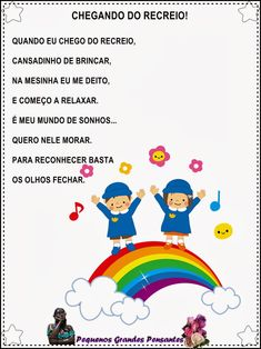 Música após o Recreio na Educação Infantil Toddler Activities, Professor, Crafts For Kids, Childhood, School, Creative, Literacy Activities, Music Classroom, School Supplies