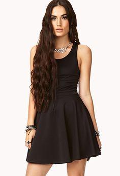 Mesh Back Fit & Flare Dress | FOREVER 21 - 2040496917