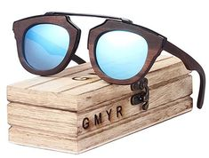fb057d065cd3 Bamboo Sunnies. GMYR Balck Women Wooden Sunglasses Female Oversized 2018  Sunglasses Men s Bamboo Polarized ...