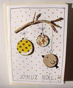 Carte de Noël provencale : Cartes par hdlcreapapier