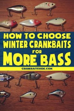 How to choose winter crankbaits for more bass. Try these and catch more fish! Bass Fishing Lures, Gone Fishing, Best Fishing, Trout Fishing, Fishing Tackle, Fishing Stuff, Carp Fishing, Kayak Fishing, Bass Tackle