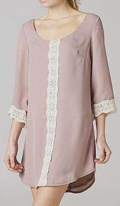 Cream Easy Wear Lace Dress