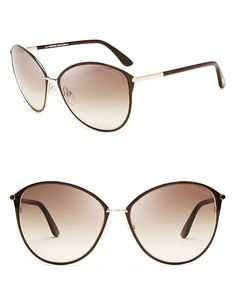3b4cc447b4 TOM FORD Tom Ford Penelope Oversized Sunglasses