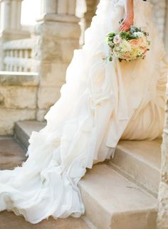 Drooling over this wedding dress: http://www.stylemepretty.com/2014/06/03/timeless-austin-wedding-at-chateau-bellevue/   Photography: Taylor Lord - http://www.taylorlord.com/
