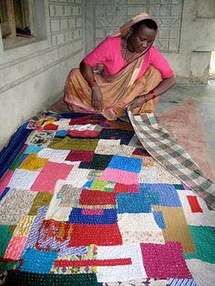 The Siddis who live in Karnataka, India are of African descent. Siddis women craft dynamic quilts, which they make for their children and g...