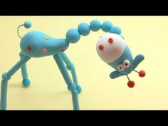 ▶ Articulated Blue Giraffe (Polymer Clay) - girafinha azul articulada (Fimo) - YouTube