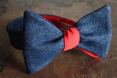 Bow Tie-Denim and Red