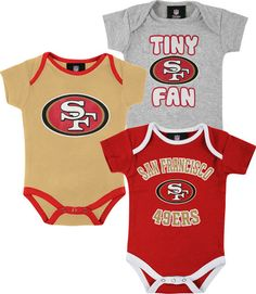 San Francisco 49ers Infant Tiny Fan 3 Piece Creeper Set