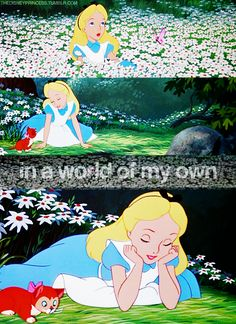 Considering how much of my childhood was made up with the idea that is Alice in wonderland, It's really amazing that I'm not screwed up more than I already am! Disney Dream, Disney Love, Disney Magic, Disney Art, Disney Pixar, Walt Disney, Disney Characters, Disney Songs, Alice In Wonderland 1951