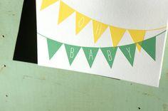 Oh Baby Letterpress Card by cottonflowerpress on Etsy