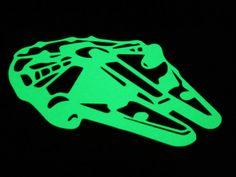 Millenium Falcon glowing in the dark sticker Star Wars