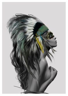 Linn Wold - Headdress Print (various sizes)