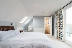 Rear dormer loft conversion carried out by Simply Loft to a semi-detached house in Richmond, South West London, creating a bedroom, fully fitted bathroom and a study. Dormer Bungalow, House, Loft Conversion, Bedroom Design, Bedroom Loft, Barn Bedrooms, Loft Room, Loft Spaces, Bungalow Bedroom