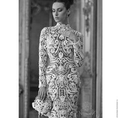 Купить Свадебное платье из Ирландского Кружева Annoralace - белый, кружево, кружева, кружевное платье