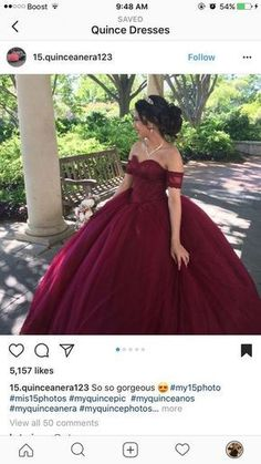 Plus Size Prom Dress, Quinceanera Dresses,Ball Gowns Prom Dresses,Sweet 16 Dresses,Elegant Quinceanera Dresses Shop plus-sized prom dresses for curvy figures and plus-size party dresses. Ball gowns for prom in plus sizes and short plus-sized prom dresses Sweet 15 Dresses, Dresses Elegant, Beautiful Dresses, Pretty Dresses, Burgundy Quinceanera Dresses, Mexican Quinceanera Dresses, Quince Dresses Burgundy, Burgundy Dress, Xv Dresses