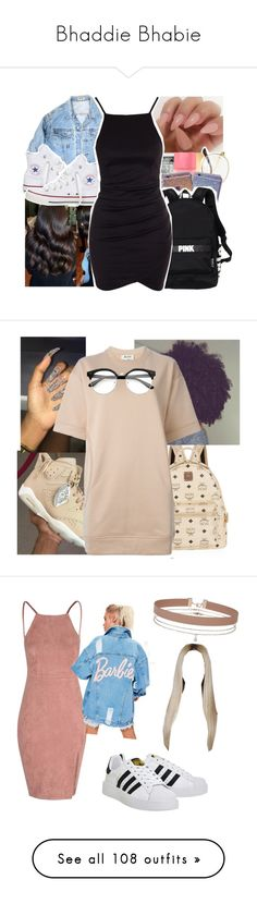 """Bhaddie Bhabie"" by irdcordk ❤ liked on Polyvore featuring Yves Saint Laurent, GUESS, Converse, Victoria's Secret, MCM, Acne Studios, adidas, Miss Selfridge, Boohoo and Michael Kors"