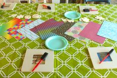 Decorate picture frames- great idea for a birthday party craft
