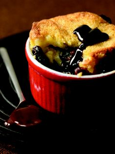 >i< Cherry Bread Pudding w/Chocolate Sauce