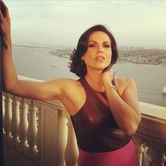 Lana still looks awesome after being at SDCC all day Regina Mills, Jessica Jones, Troy, Once Upon A Time, Love Her, Beautiful People, Basic Tank Top, Camisole Top, Singer