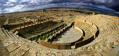 theatre at , Algeria Algeria Travel, Voyage Rome, Roman Theatre, Roman Architecture, Belle Villa, Historical Monuments, Out Of Africa, Largest Countries, Rest Of The World