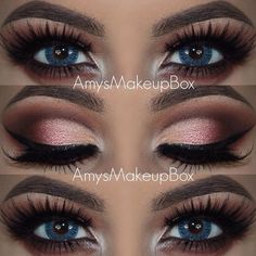 5 Ways to Make Blue Eyes Pop with Proper Eye Makeup Loading. 5 Ways to Make Blue Eyes Pop with Proper Eye Makeup Cool Makeup, Gorgeous Makeup, Pretty Makeup, 80s Makeup, Makeup List, Runway Makeup, Scary Makeup, Makeup Guide, Makeup Geek