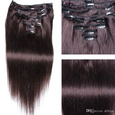 100gStraight Clip In Human Hair Extension Straight Natural Color #1b High Quality Brazilian Virgin Hair Clip In Extensions 16 CombsLong Blonde Hair Extensions Hair Extension Clips Uk From Debaja, $39.36| Dhgate.Com