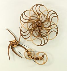 Kinetic Sculpture by David C. Roy - All Sculptures | Wood That Works | Kinetic Art - Variation IIWave