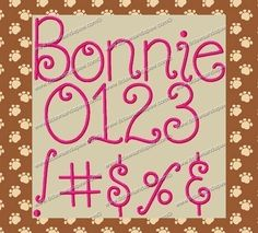 Hey, I found this really awesome Etsy listing at https://www.etsy.com/listing/62434792/bonnie-embroidery-font-4-sizes