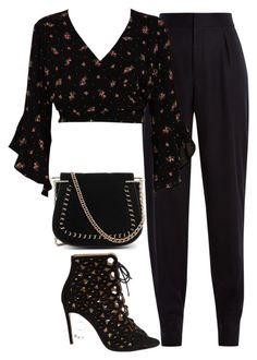 """Untitled #967"" by bellax0x on Polyvore featuring Yves Saint Laurent, River Island, Bionda Castana and Tiffany & Co."