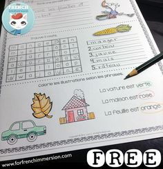 FREE French Morning Work Sample Worksheets - 10 no-prep printable sheets - en… French Teaching Resources, Teaching French, Teaching Spanish, Ways Of Learning, Kids Learning, French Friend, French Worksheets, French Education, Free In French
