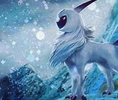 """#3 Absol the disaster pokemon. """"When you see Absol, it means that disaster is imminent-so don't stay put! Absol only appears to those it wants to warn."""""""