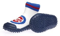 Skidders Chicago Cubs Kids Slip-Resistant Indoor/Outdoor Slip-On Hybrid Shoes with Socks SkidDERS. $15.00