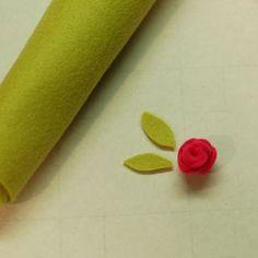 Small Felt Rose Tutorial by Betsy Veldman